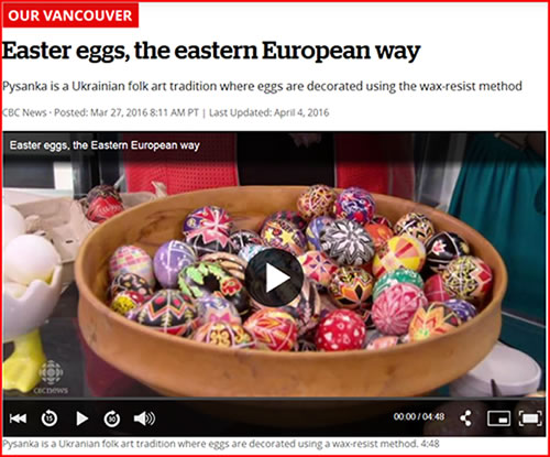 Easter eggs, the eastern European way video