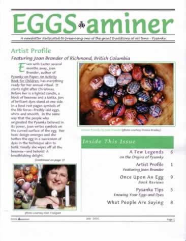 EGGS-aminer newsletter about pysanky from babasbeeswax.com