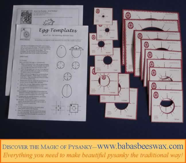 Templates for pysanky from babasbeeswax.com